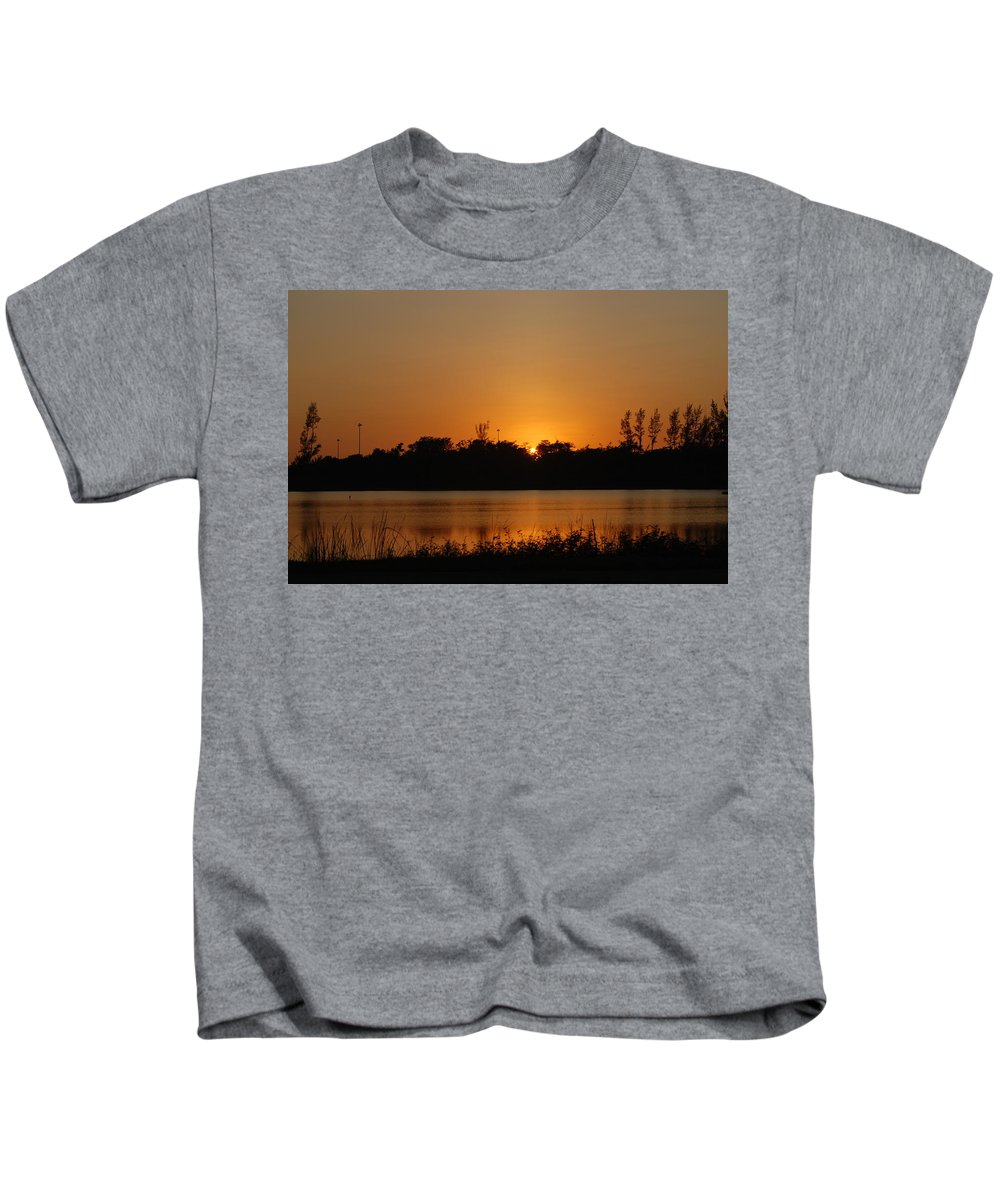 Nature Kids T-Shirt featuring the photograph Sunset On The Edge by Rob Hans