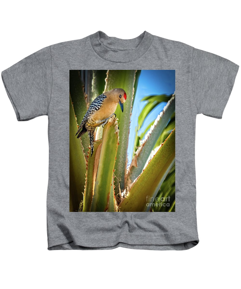 Bird Kids T-Shirt featuring the photograph The Gila Woodpecker by Robert Bales