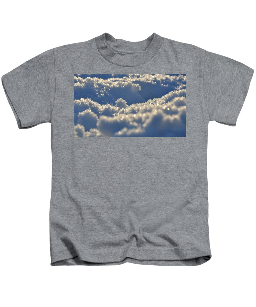 Winter Kids T-Shirt featuring the digital art Winter by Dorothy Binder