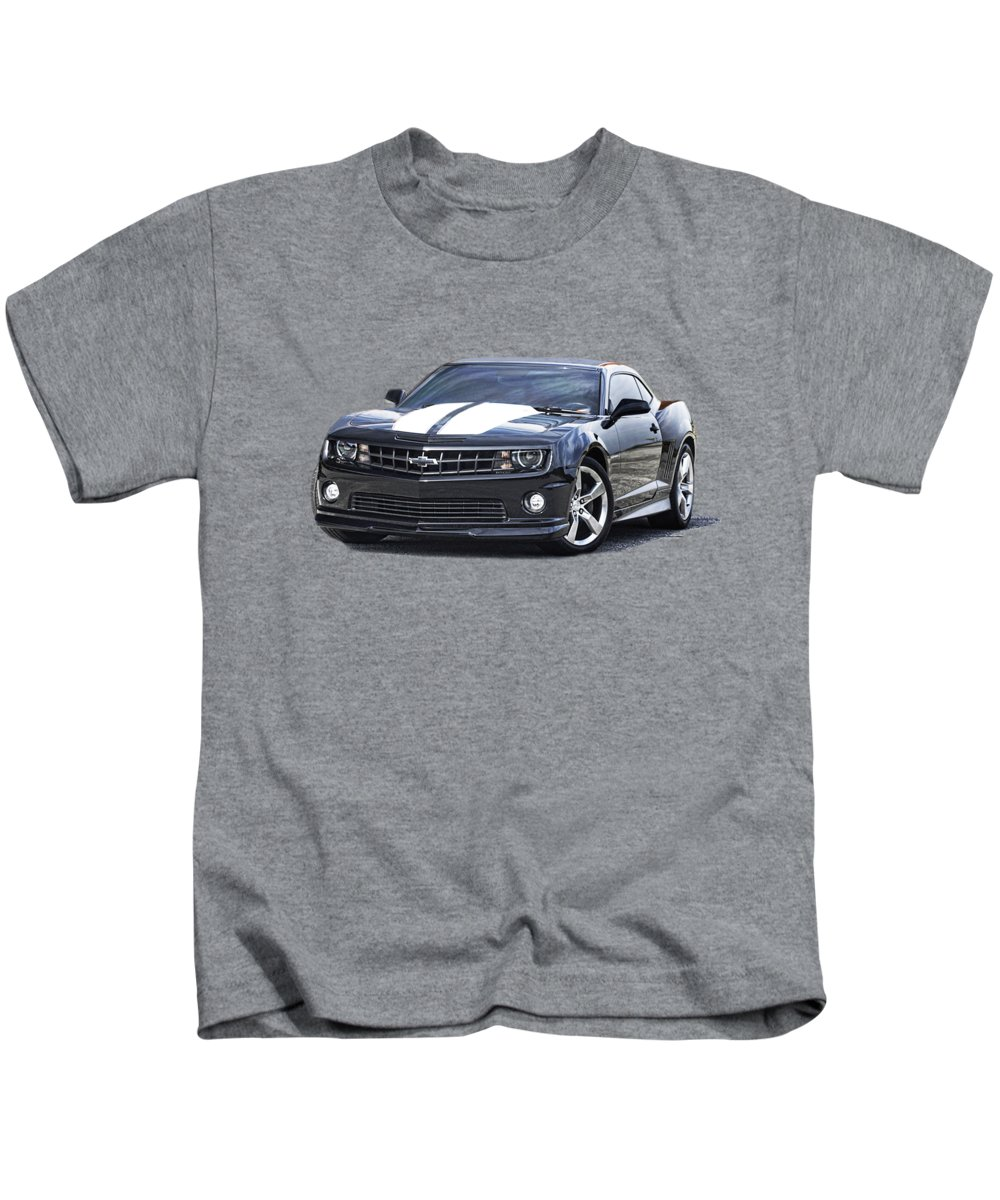2010 Chevrolet Camaro Ssrs Pure Muscle Kids T-Shirt featuring the photograph Camaro S S R S by Jack Pumphrey