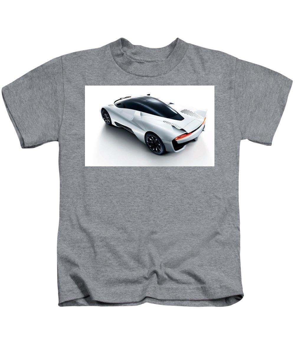 Ssc Tuatara 2 Wide Kids T-Shirt featuring the digital art 2014 Ssc Tuatara 2 Wide by Rose Lynn