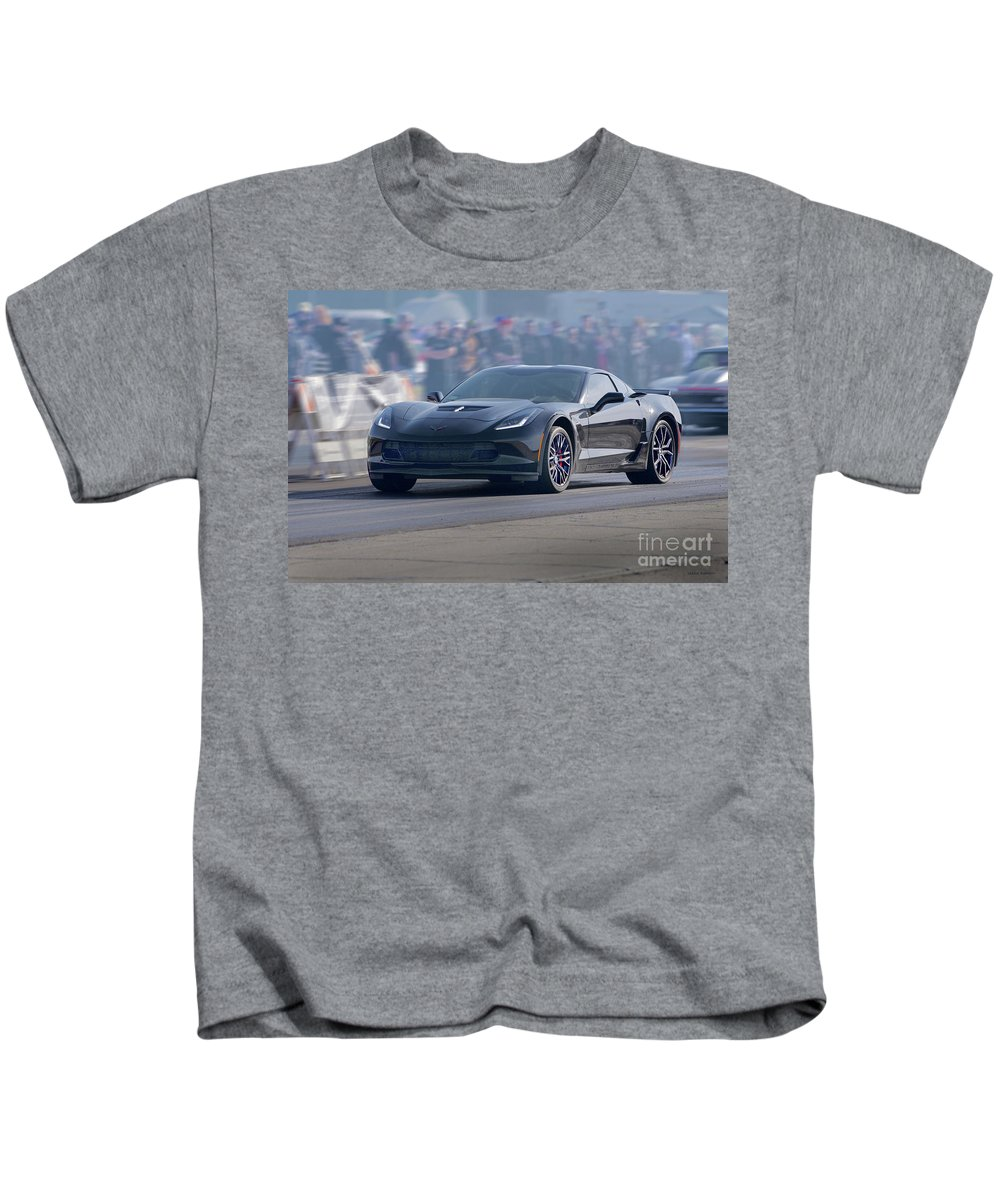 2006 Corvette Z06 Coupe Kids T-Shirt featuring the photograph 2015 Corvette Z06 Coupe by Dave Koontz