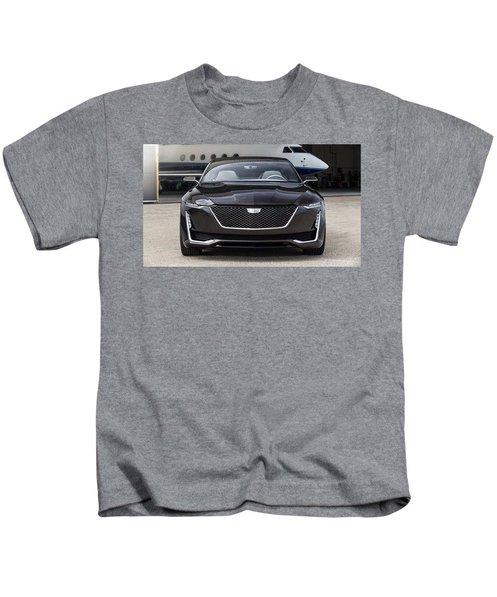 2016 Cadillac Escala Concept 3 Kids T-Shirt featuring the digital art 2016 Cadillac Escala Concept 3 by Mery Moon