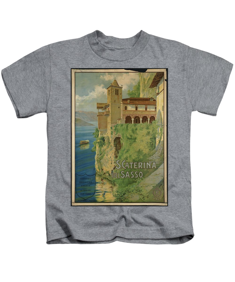 Public-domain-images-free-vintage-posters-0240 Kids T-Shirt featuring the painting Public Domain Images by MotionAge Designs