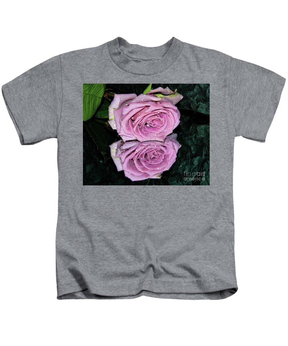 Flowers Kids T-Shirt featuring the photograph Purple Rose by Elvira Ladocki