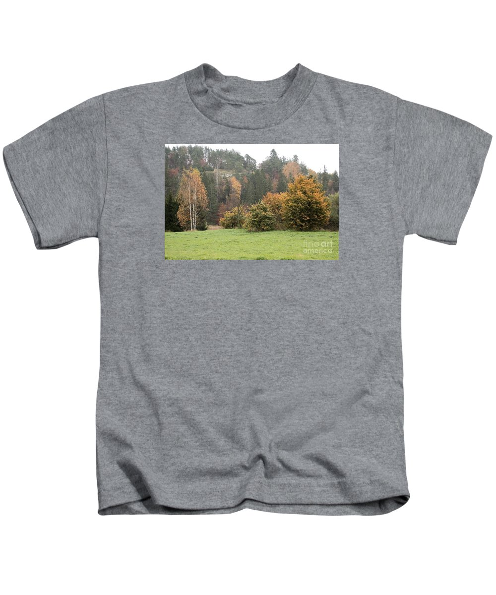 Autumn Kids T-Shirt featuring the photograph Autumn by Esko Lindell