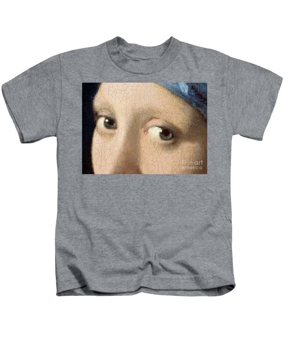 Vermeer Kids T-Shirt featuring the painting Girl With A Pearl Earring by Jan Vermeer