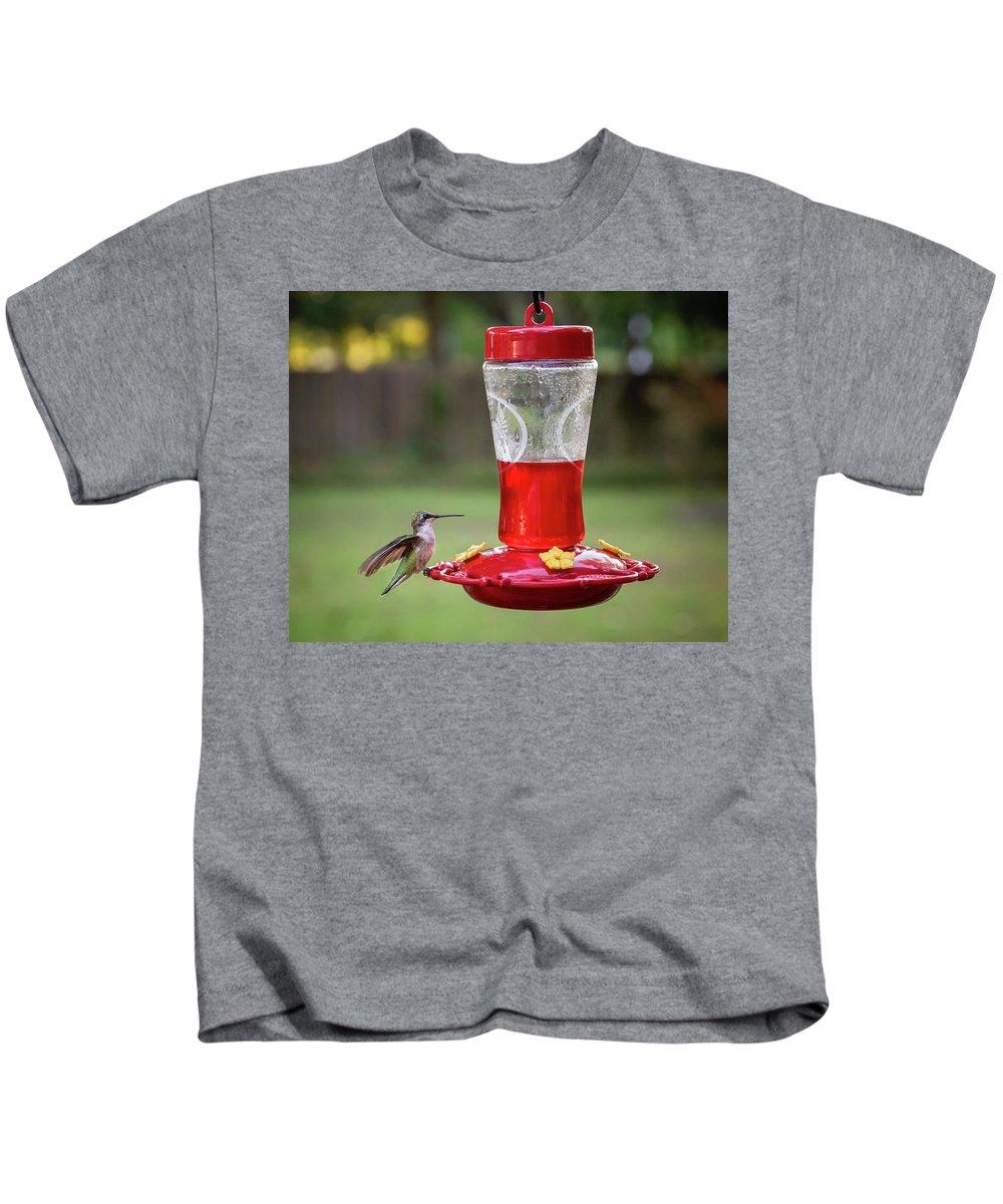 Humming Bird Kids T-Shirt featuring the photograph My Sweet Hummingbird by Denis Lemay