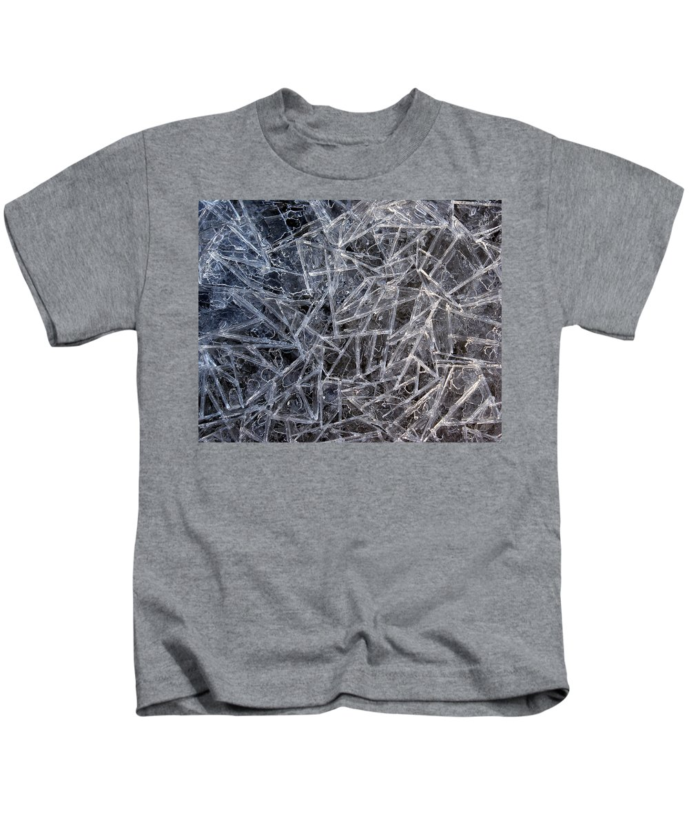 Kids T-Shirt featuring the photograph 3. Ice Pattern 2, Corbridge by Iain Duncan