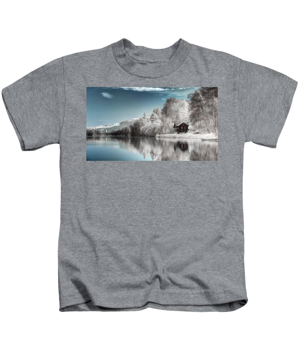 Lake Kids T-Shirt featuring the digital art Lake by Dorothy Binder