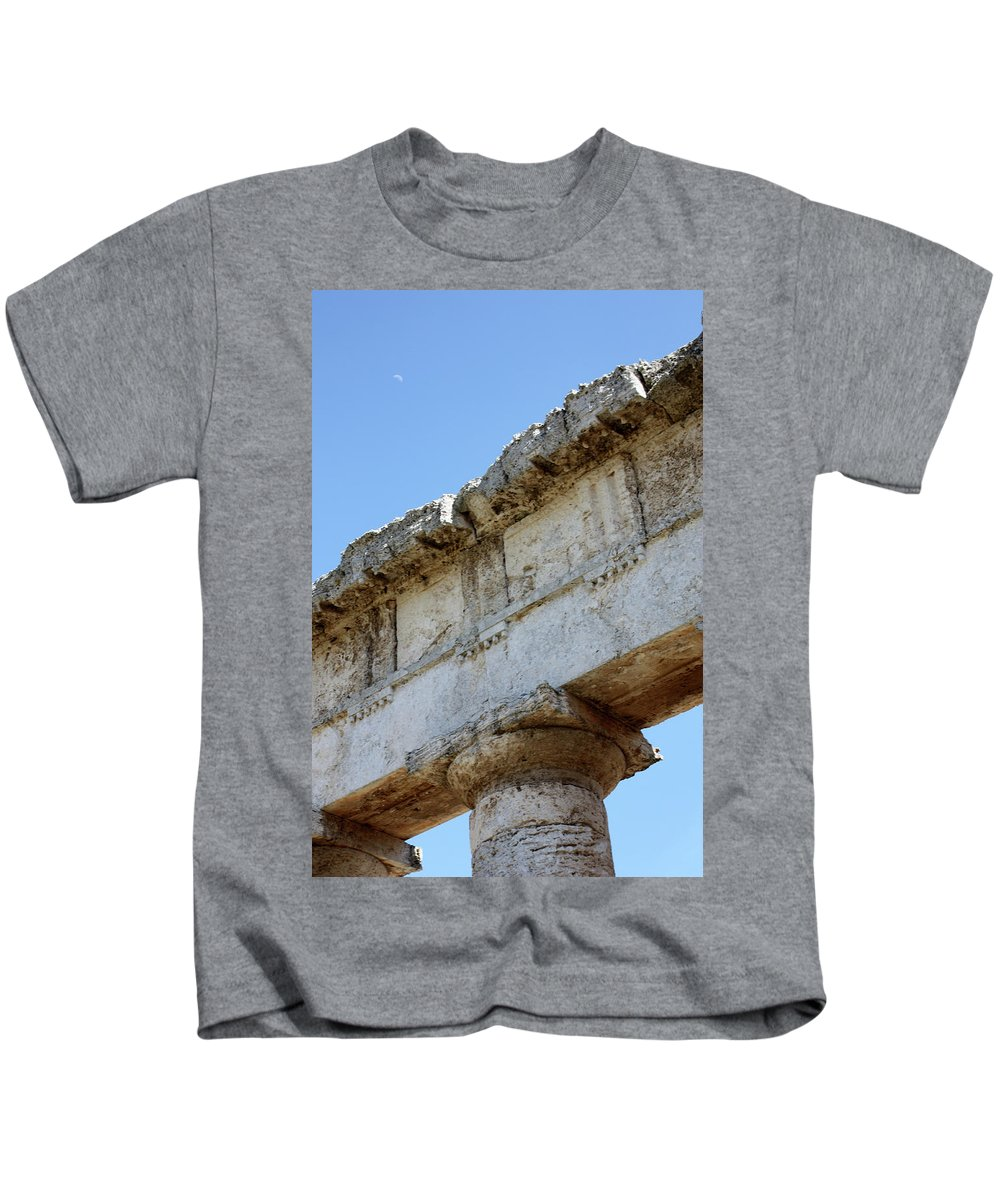 Kids T-Shirt featuring the photograph Segesta Greek Temple In Sicily, Italy by Paolo Modena
