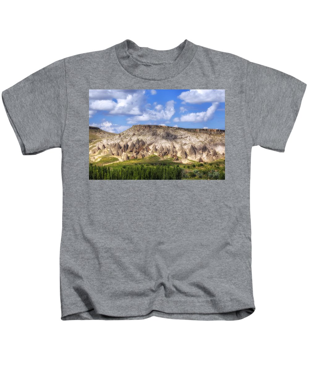 Selime Kids T-Shirt featuring the photograph Selime - Turkey by Joana Kruse