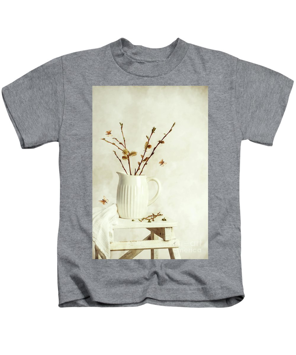 Pretty Kids T-Shirt featuring the photograph Springtime Still Life by Amanda Elwell