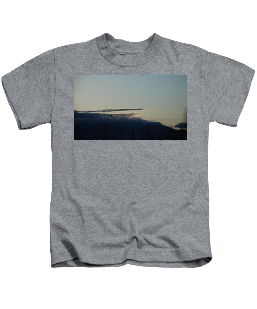 Sunrise Kids T-Shirt featuring the photograph Sunrise Over The Sandias by Rob Hans