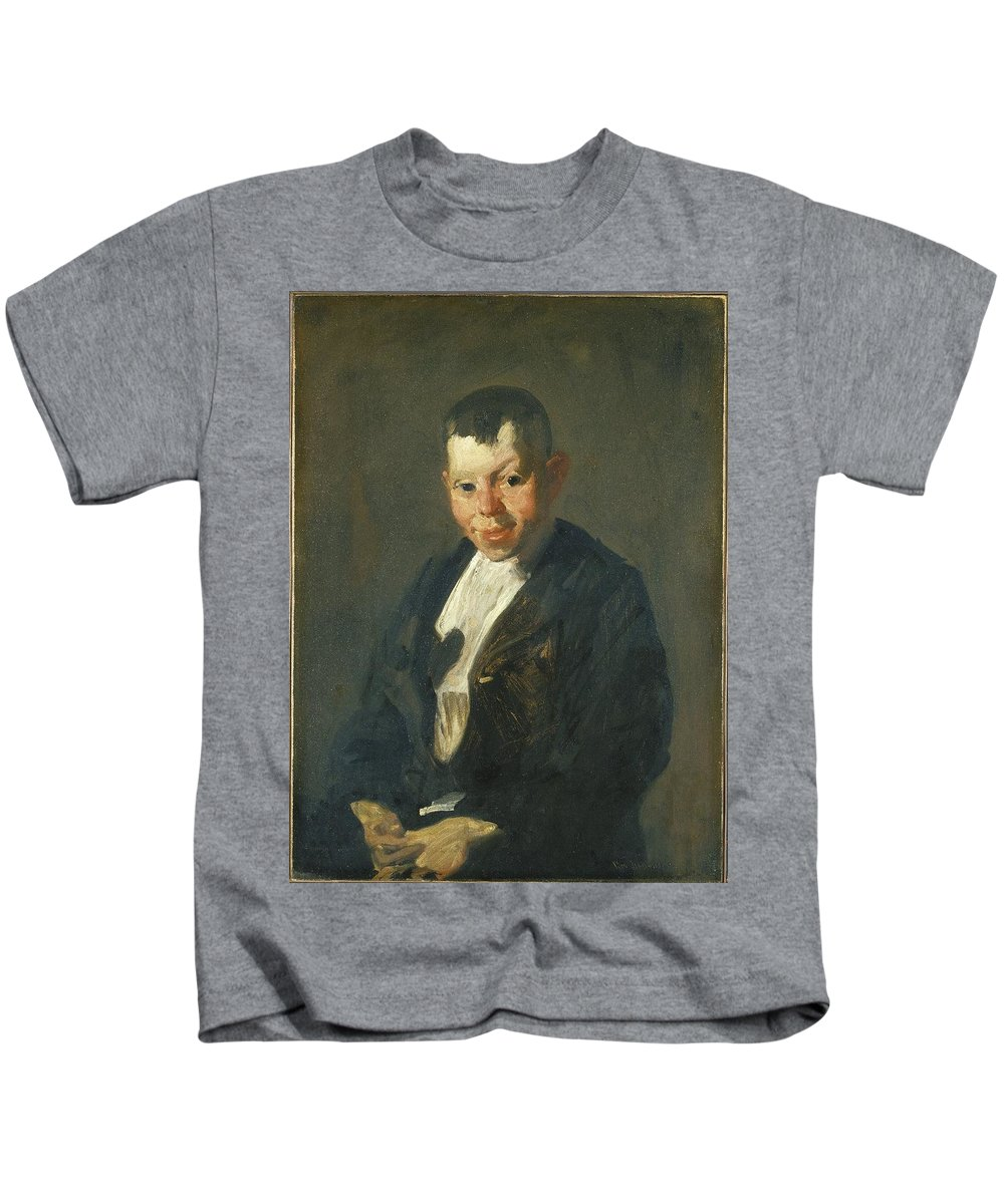 George Wesley Bellows (american Kids T-Shirt featuring the painting The Newsboy by George Wesley