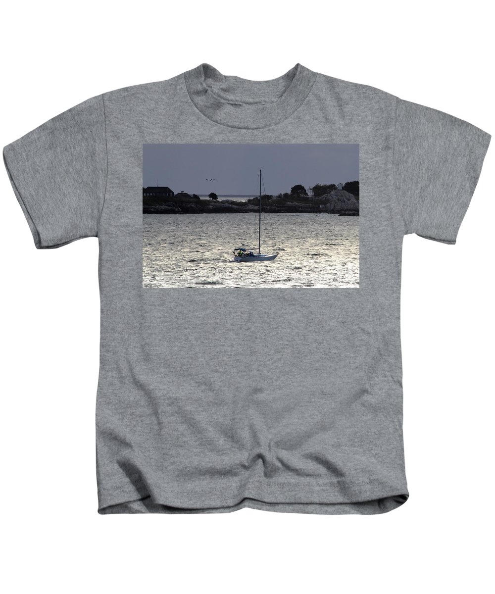 Peaches Point Kids T-Shirt featuring the photograph Marblehead Ma by Donn Ingemie