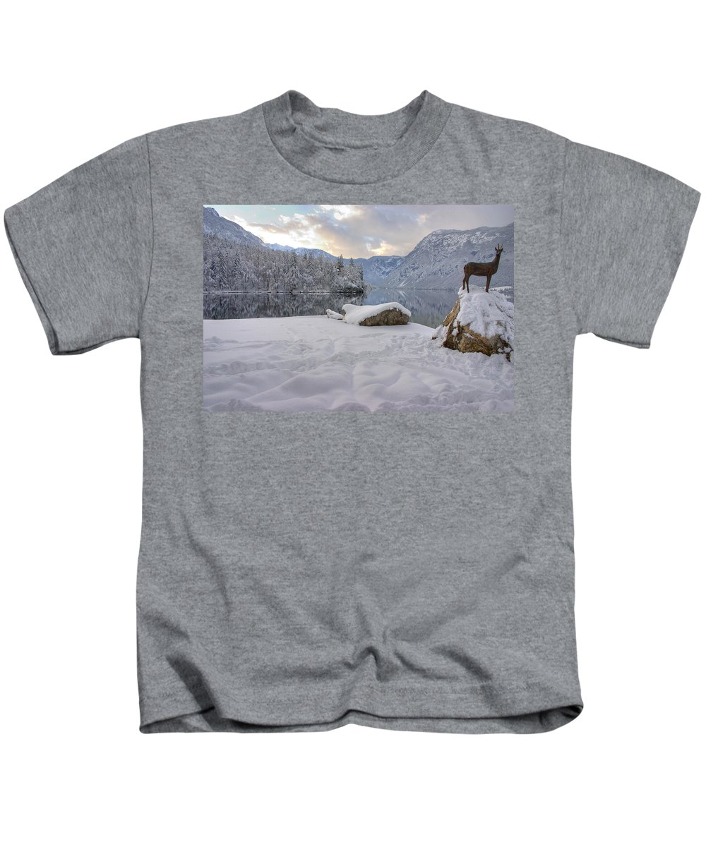 Beautiful Kids T-Shirt featuring the photograph Alpine Winter Reflections by Ian Middleton