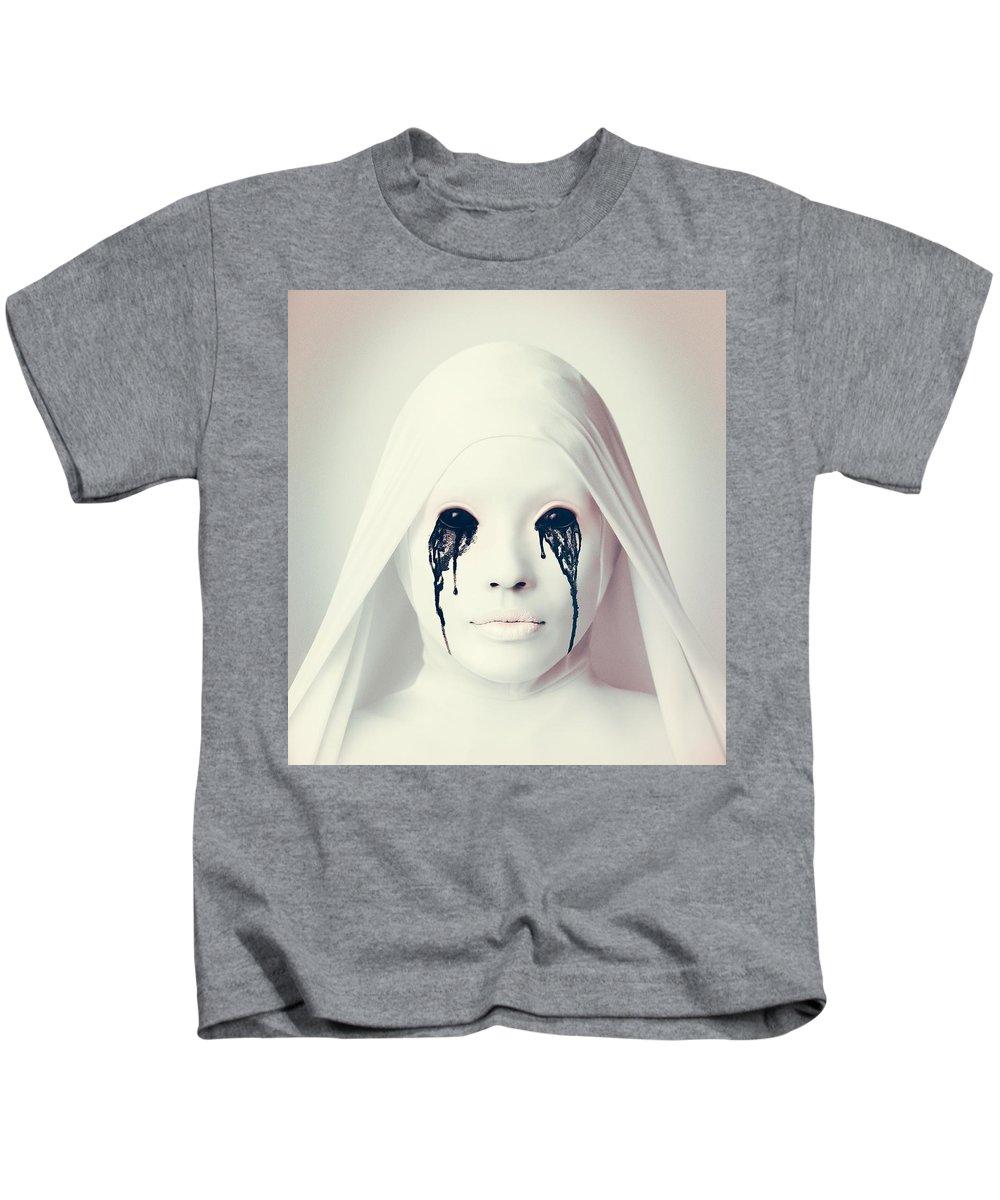 American Horror Story Asylum 2012 Kids T-Shirt featuring the digital art American Horror Story Asylum 2012 by Geek N Rock