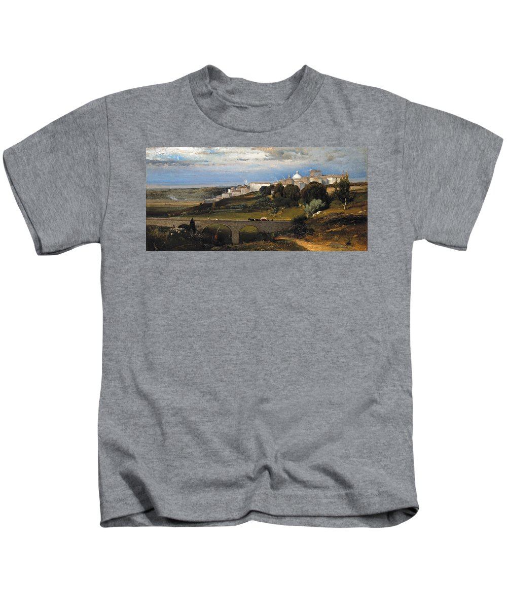 George Inness Kids T-Shirt featuring the painting Ariccia by George Inness