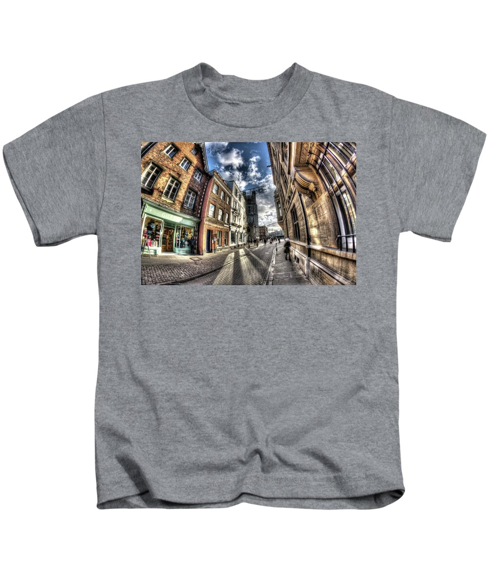 Cambridge Kids T-Shirt featuring the photograph Cambridge by KonTrasts