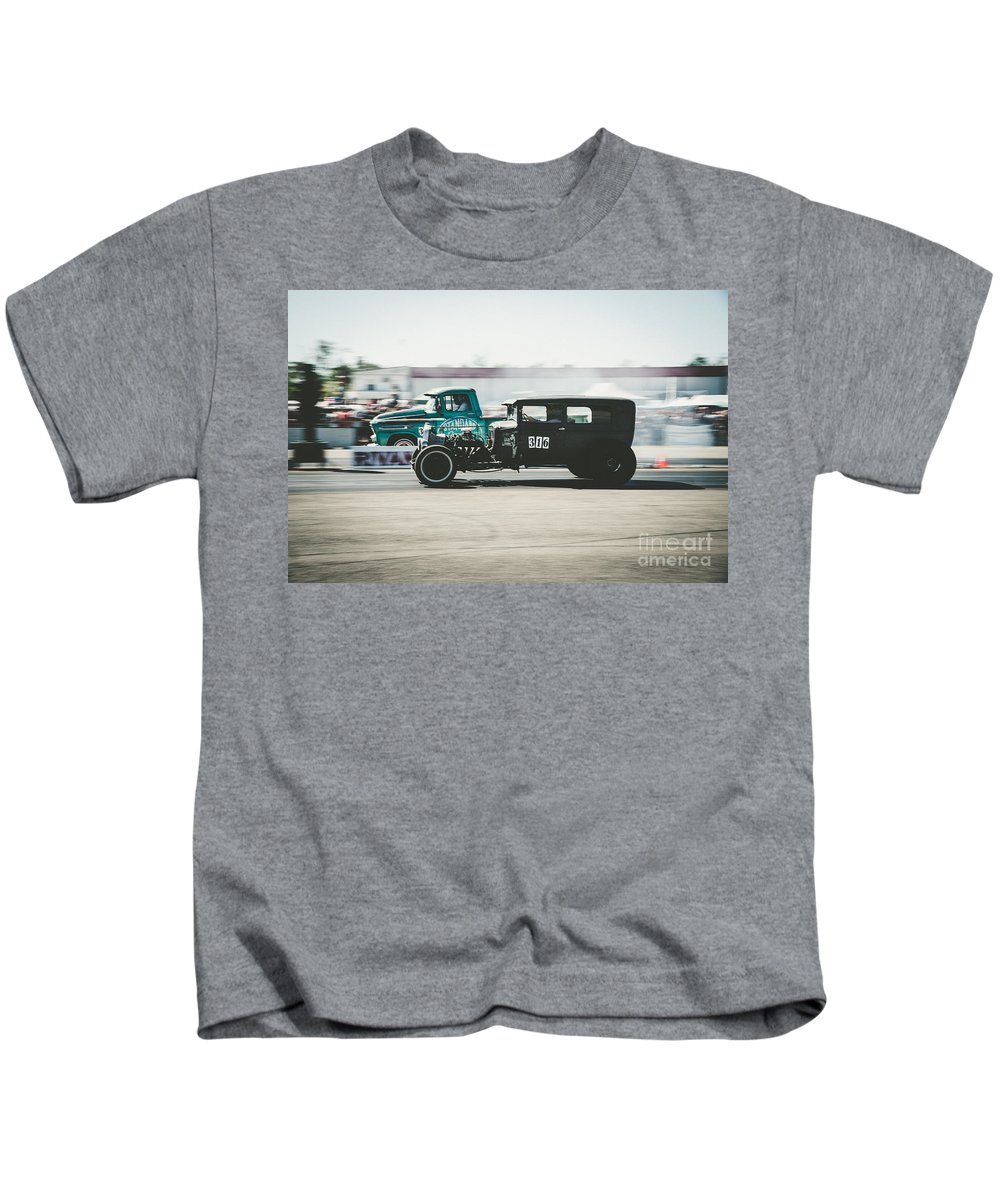 Quarter Mile Kids T-Shirt featuring the photograph Quarter Mile by Wonderland Photography
