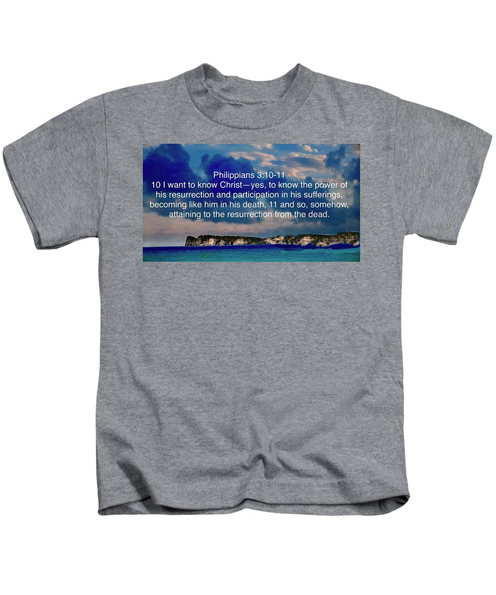 God Kids T-Shirt featuring the photograph Bible Verse by Miriam Marrero