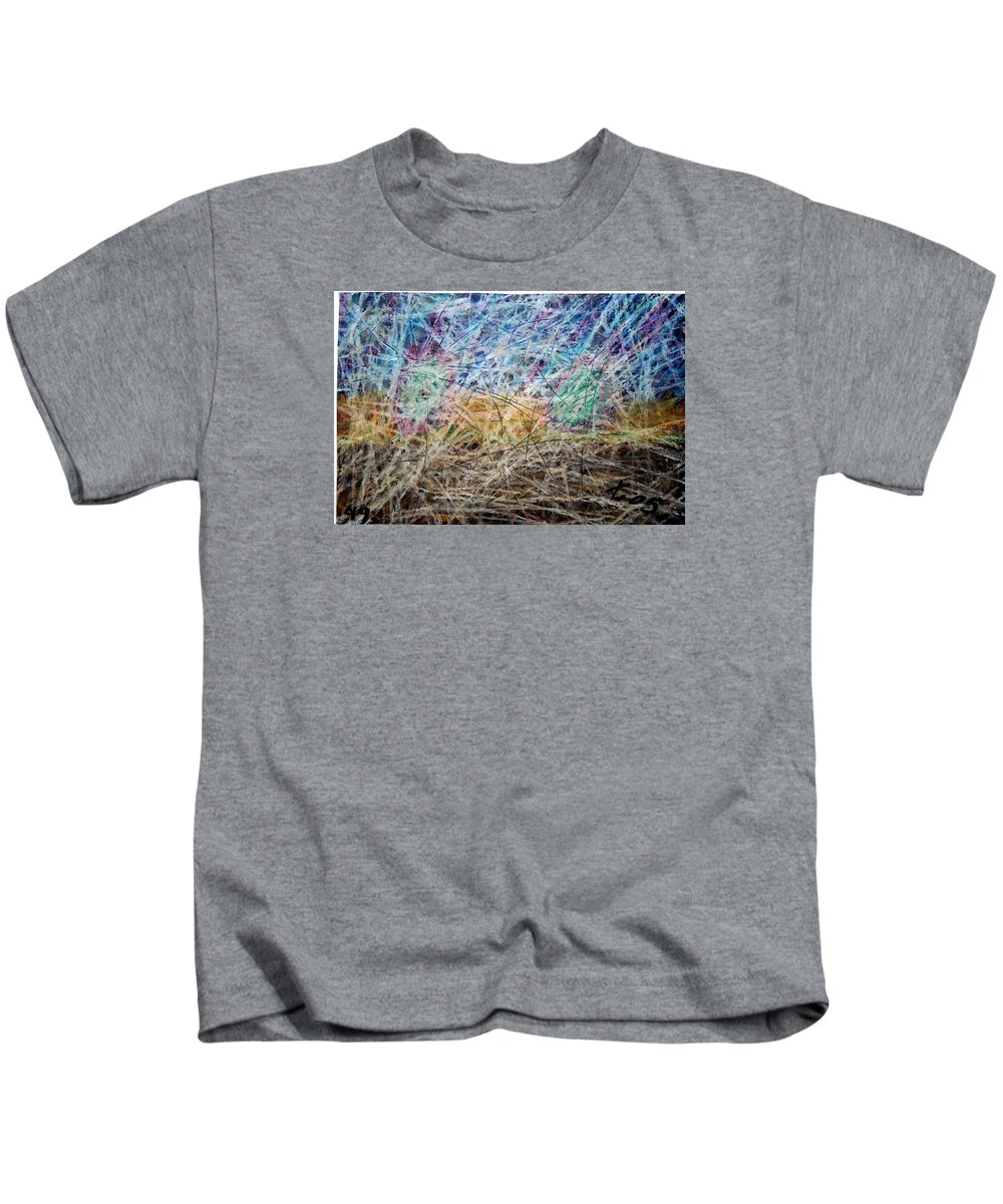 Kids T-Shirt featuring the painting 49 by Terry Wiklund