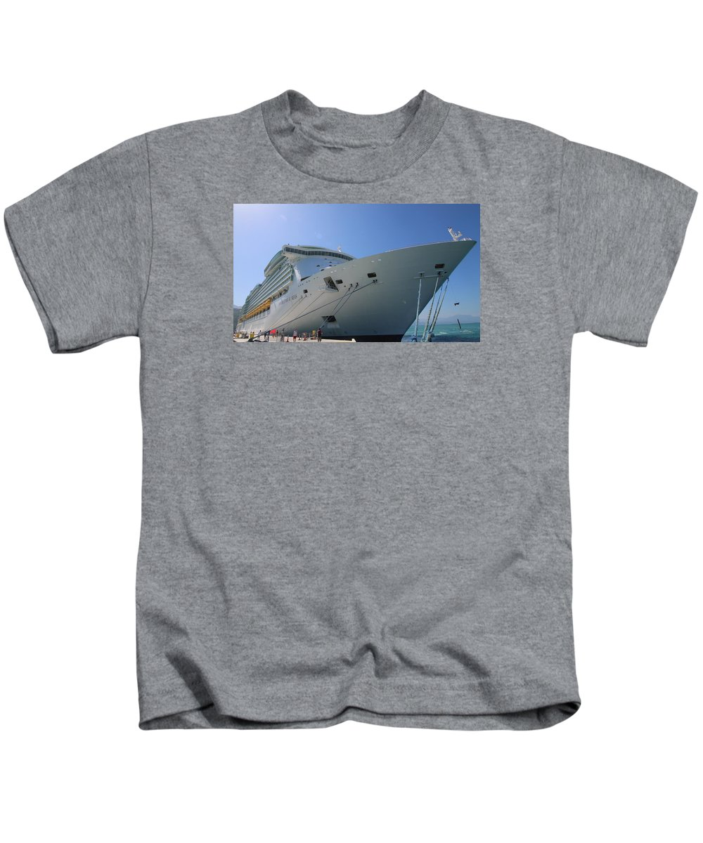 Haiti Cruise Ship Rci Kids T-Shirt featuring the photograph Haiti by Paul James Bannerman