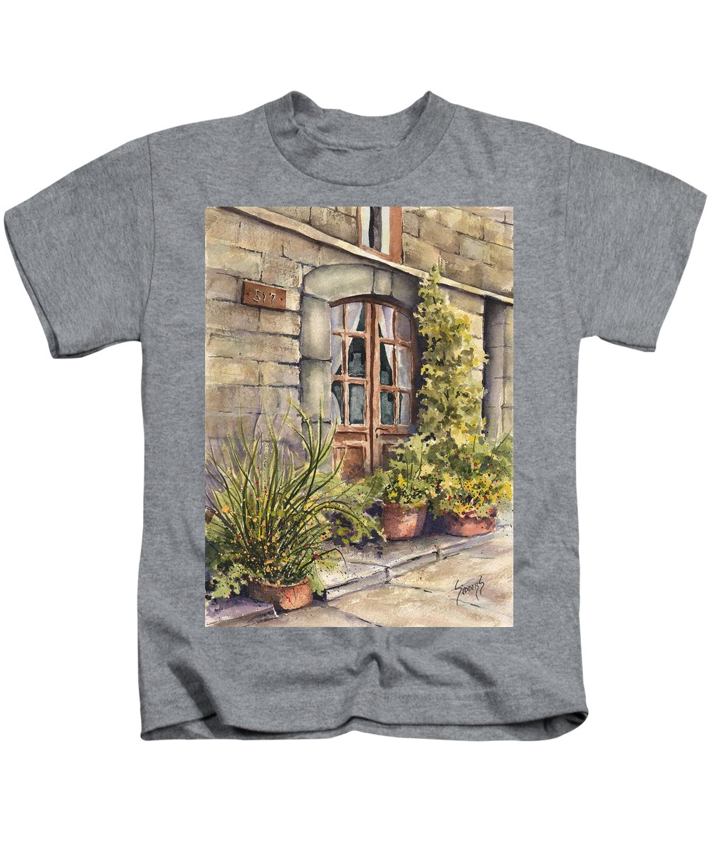 Door Kids T-Shirt featuring the painting 517 by Sam Sidders