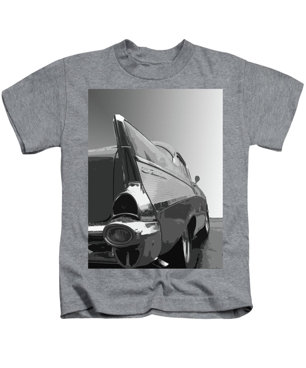 1957 Kids T-Shirt featuring the photograph 57 Chevy Verticle by Dick Goodman