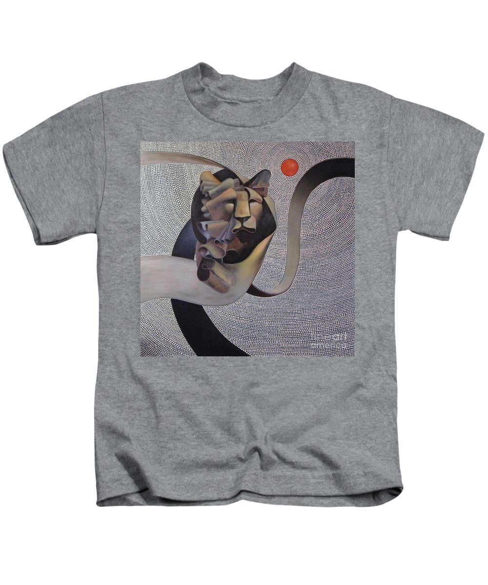 Wii Kids T-Shirt featuring the painting Kingdom Of Heaven by Riek Jonker