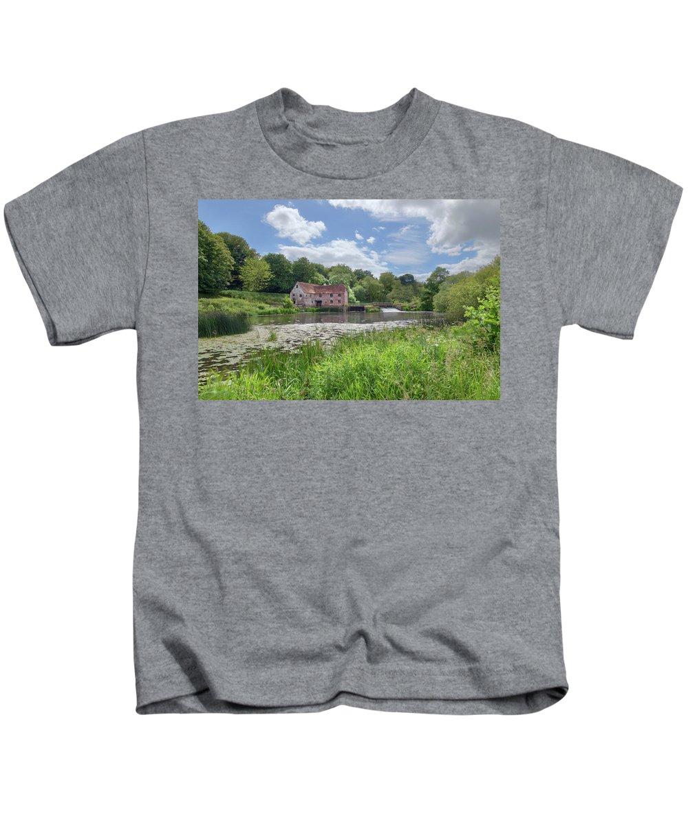 Sturminster Newton Mill Kids T-Shirt featuring the photograph Sturminster Newton Mill - England by Joana Kruse