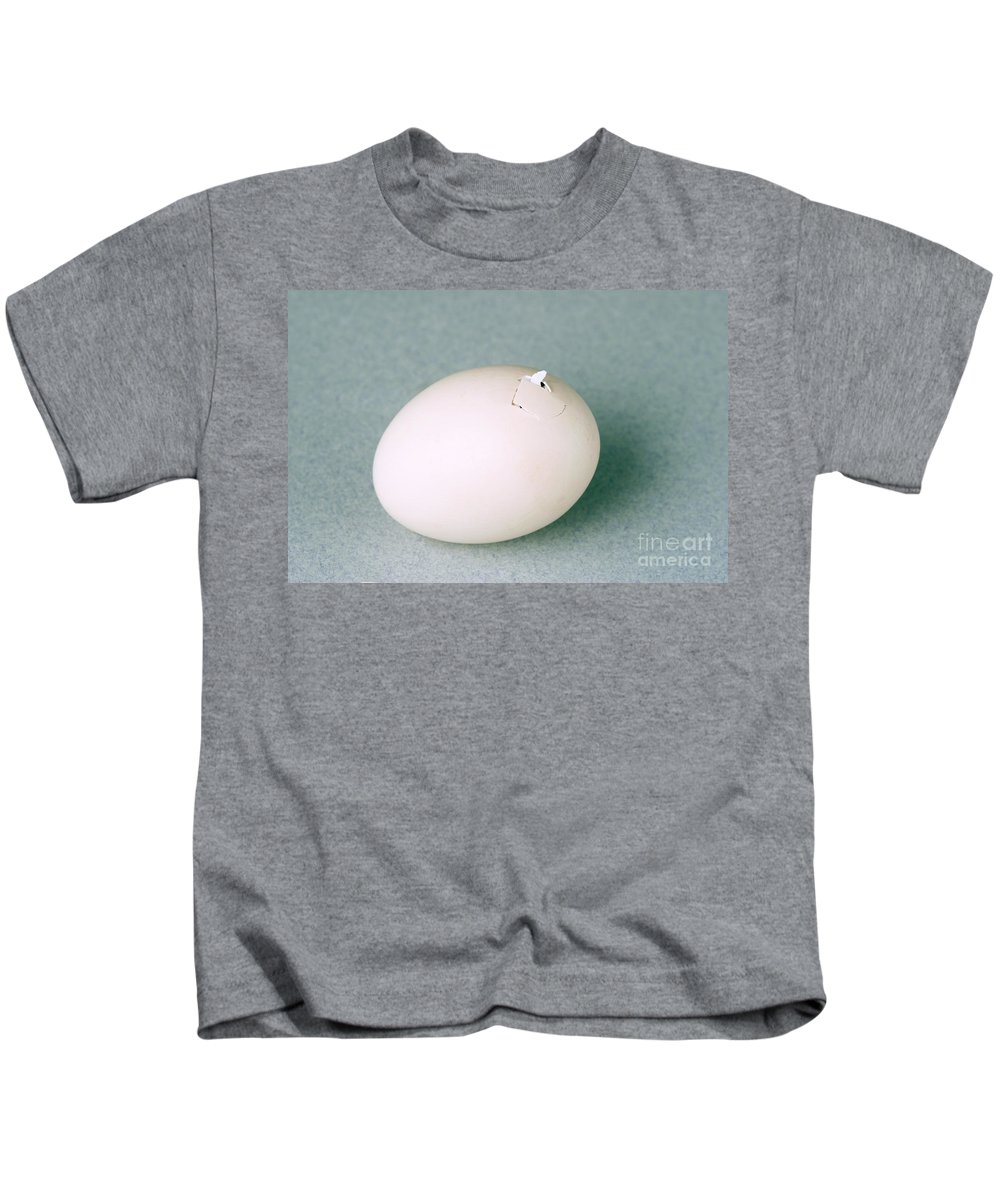 Egg Kids T-Shirt featuring the photograph Hatching Chicken by Ted Kinsman