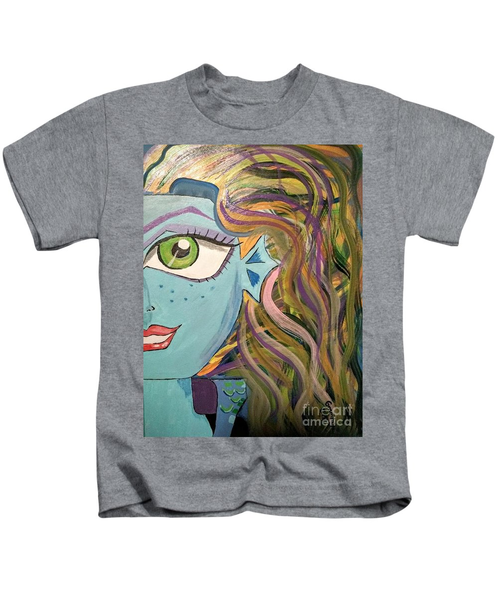 Monster High Kids T-Shirt featuring the painting Monster High by Candace Shillinger