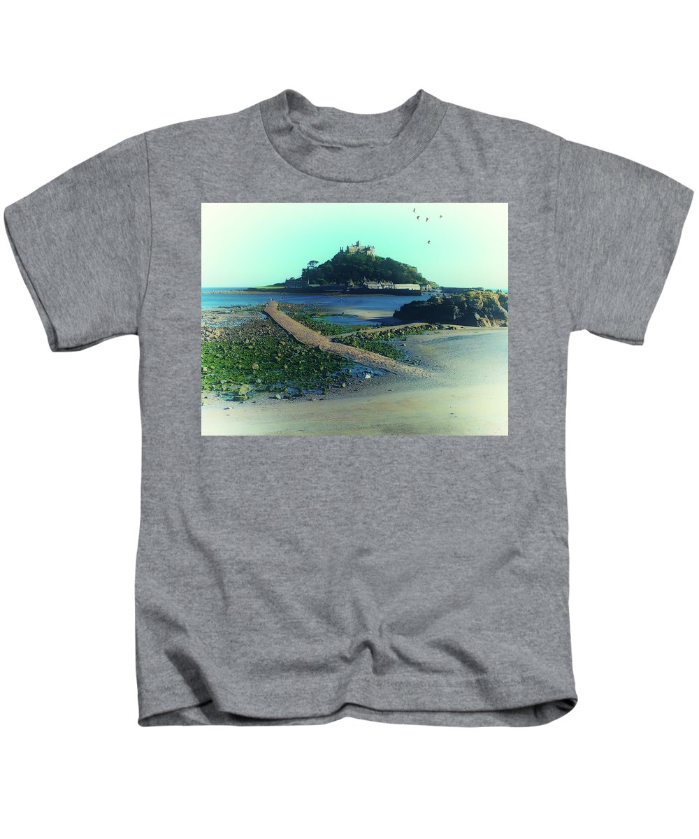 Sea Kids T-Shirt featuring the photograph St Michaels Mount by Martin Newman