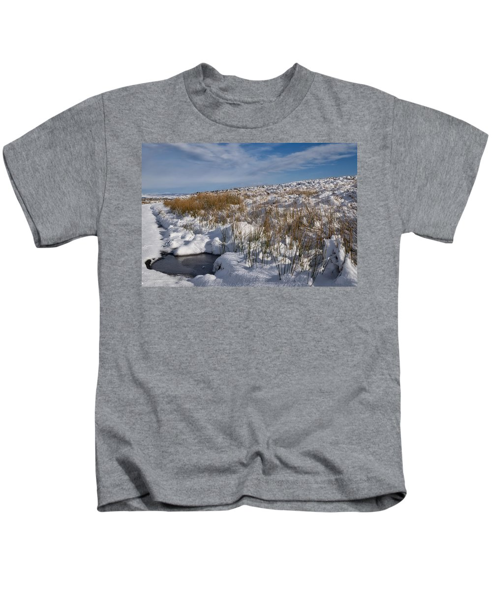 Countryside Kids T-Shirt featuring the photograph Winter Wonderland In Central Scotland by Jeremy Lavender Photography