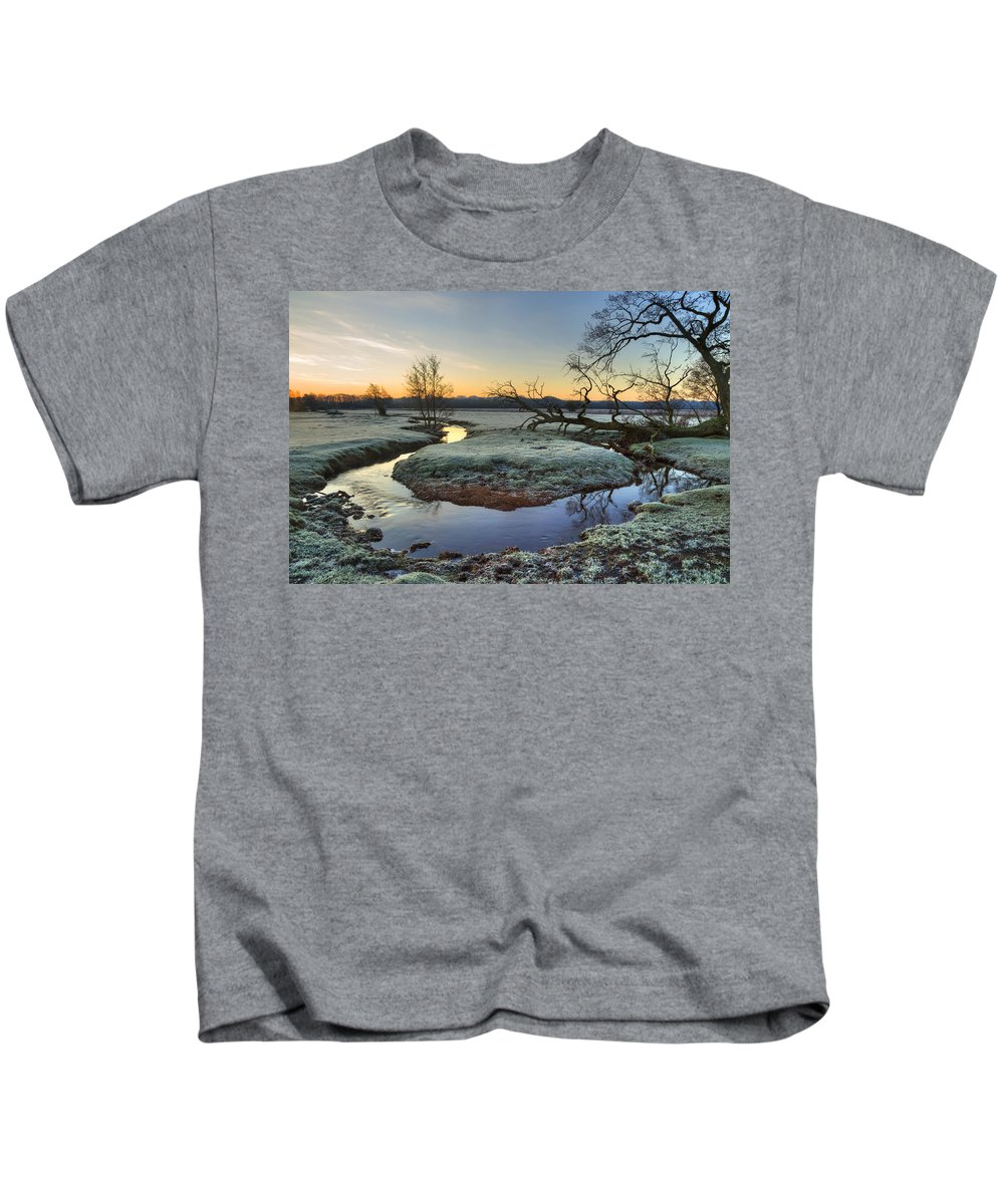 Longwater Lawn Kids T-Shirt featuring the photograph New Forest - England by Joana Kruse