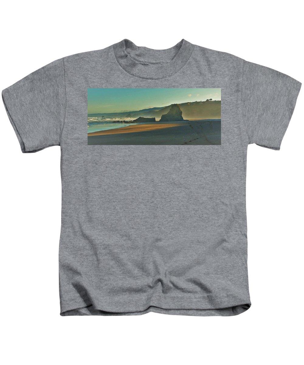 Irish Beach Kids T-Shirt featuring the photograph Irish Beach by Lisa Dunn