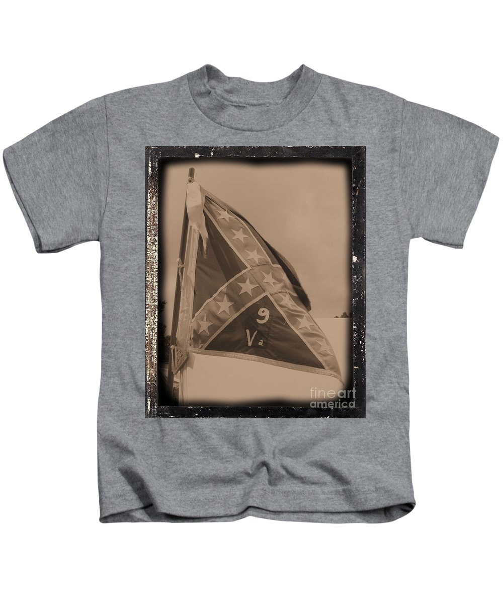 Civil War Kids T-Shirt featuring the photograph 9th Virginia by Tommy Anderson