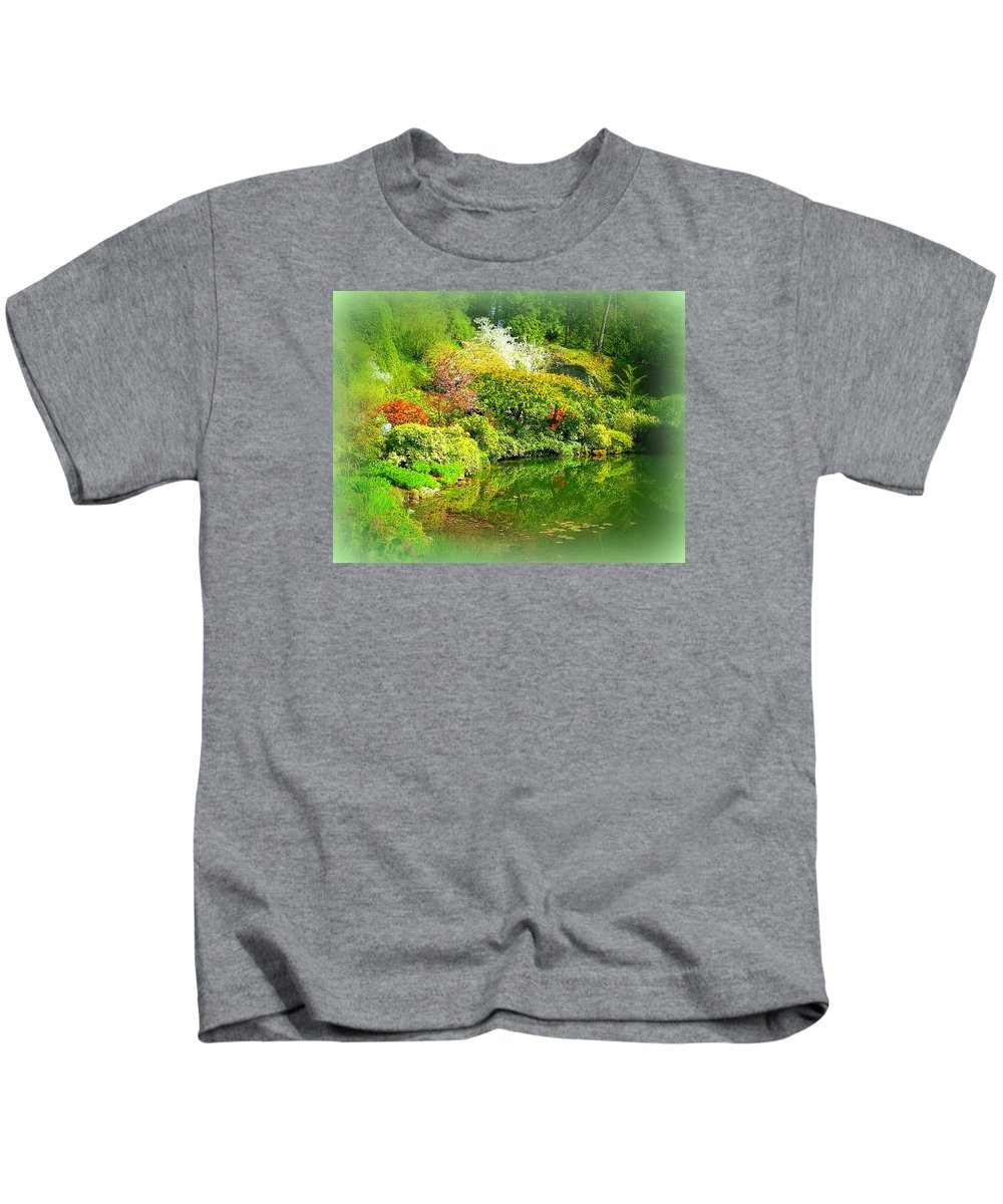 Japanese Kids T-Shirt featuring the photograph A Bright Garden by Maro Kentros