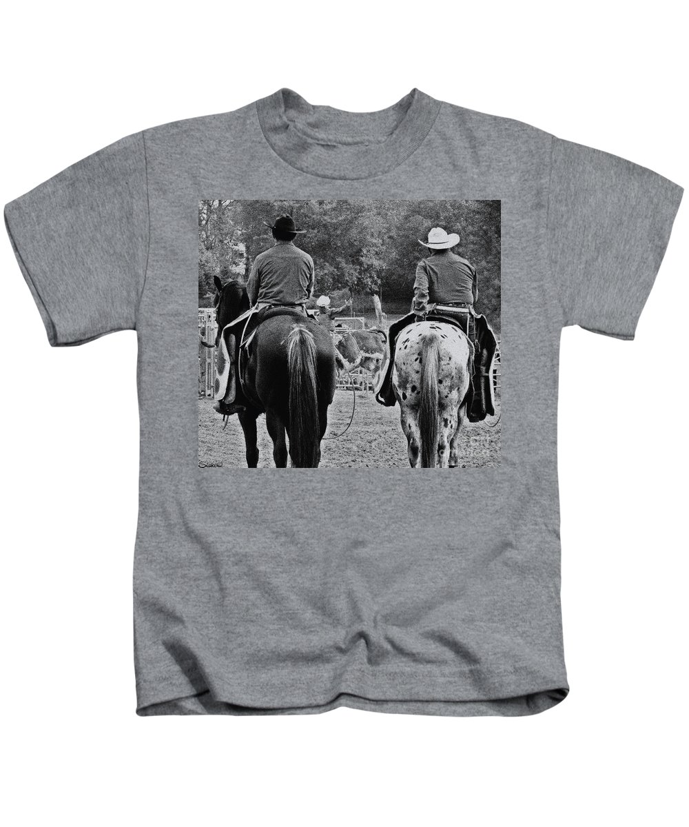 Rodeo Kids T-Shirt featuring the photograph A Cowboys Life by September Stone
