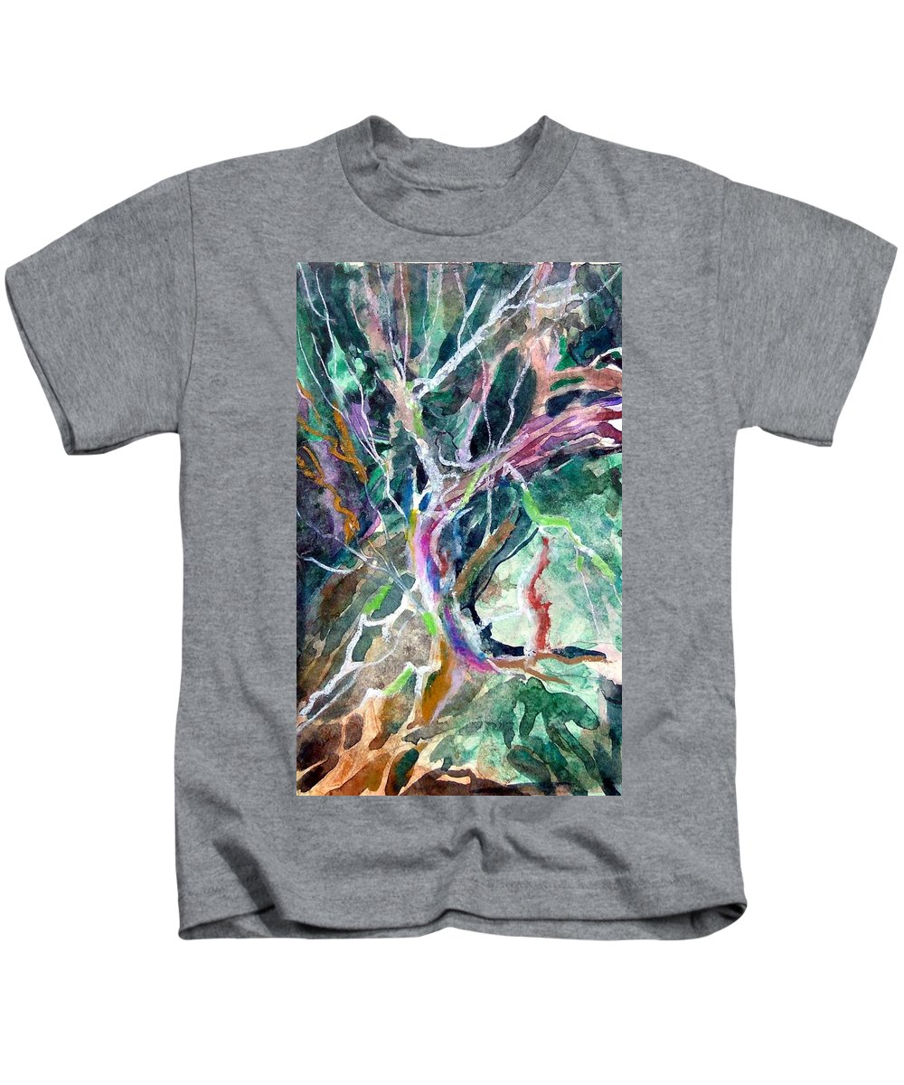 Tree Kids T-Shirt featuring the painting A Dying Tree by Mindy Newman