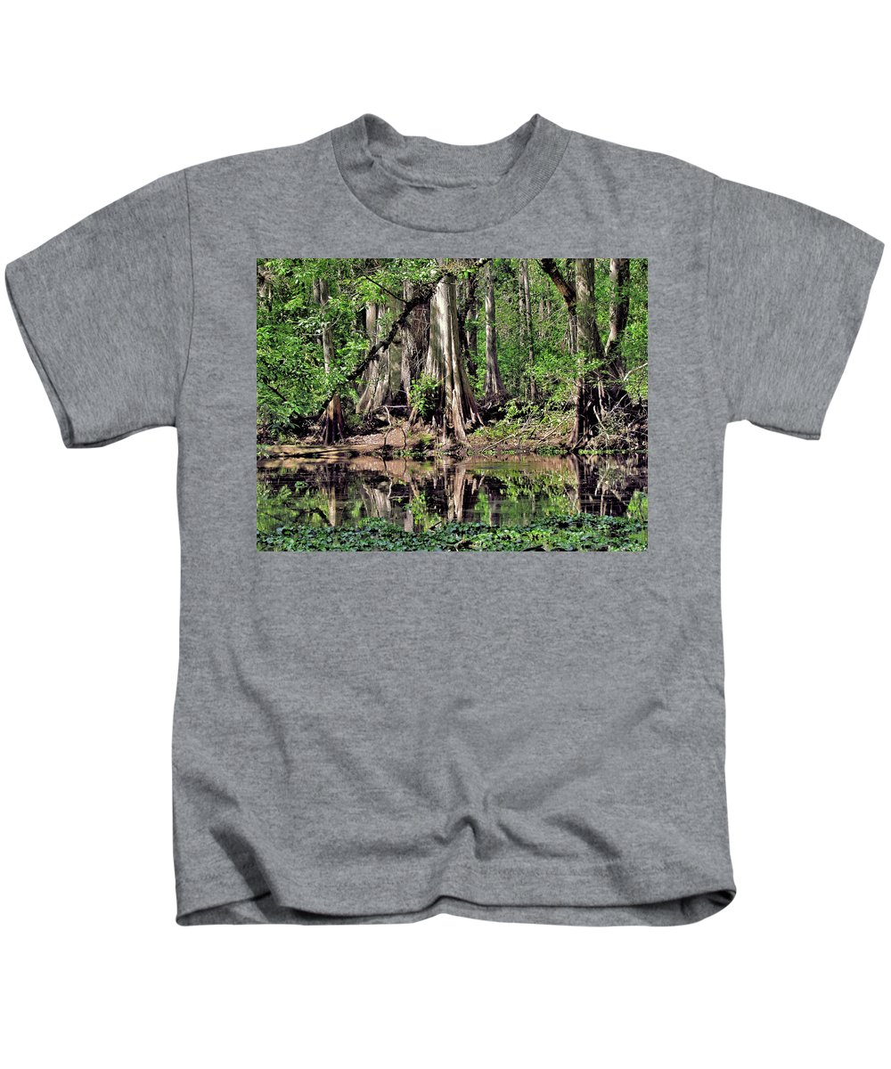 Florida Kids T-Shirt featuring the photograph A Florida Riverine Forest 2 by John Trommer