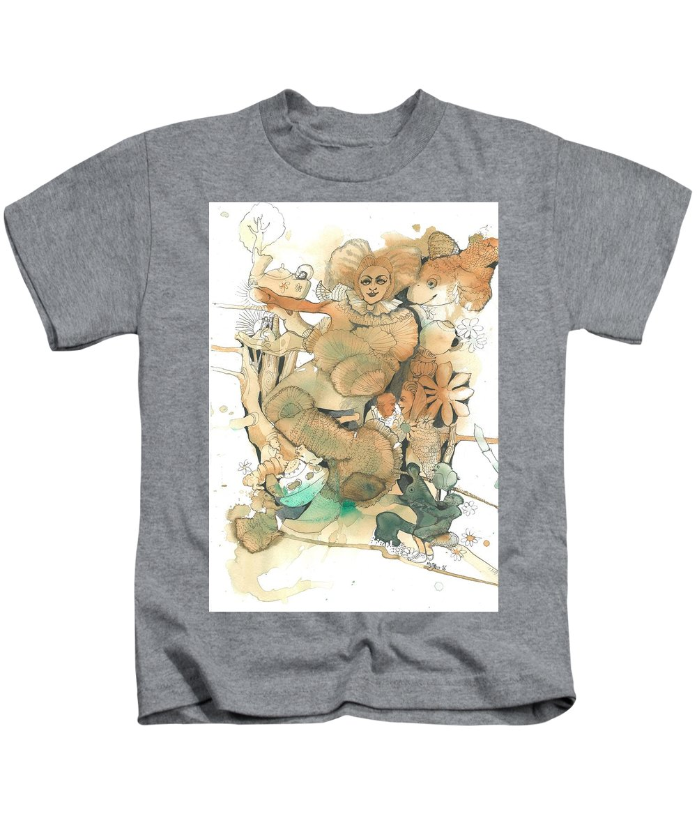 Magical Kids T-Shirt featuring the painting A Glance At A Past Life by Maryam Hashemi
