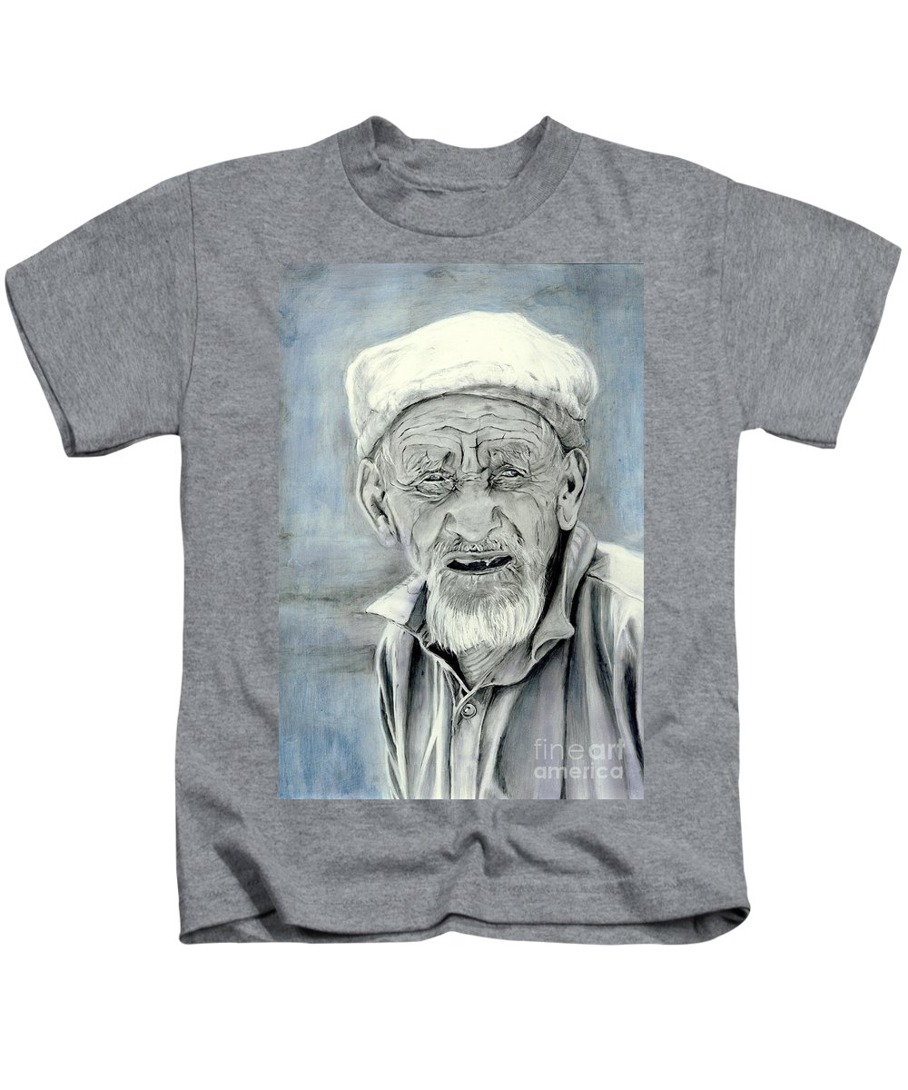 Figurative Art Kids T-Shirt featuring the painting A Life Time by Portraits By NC