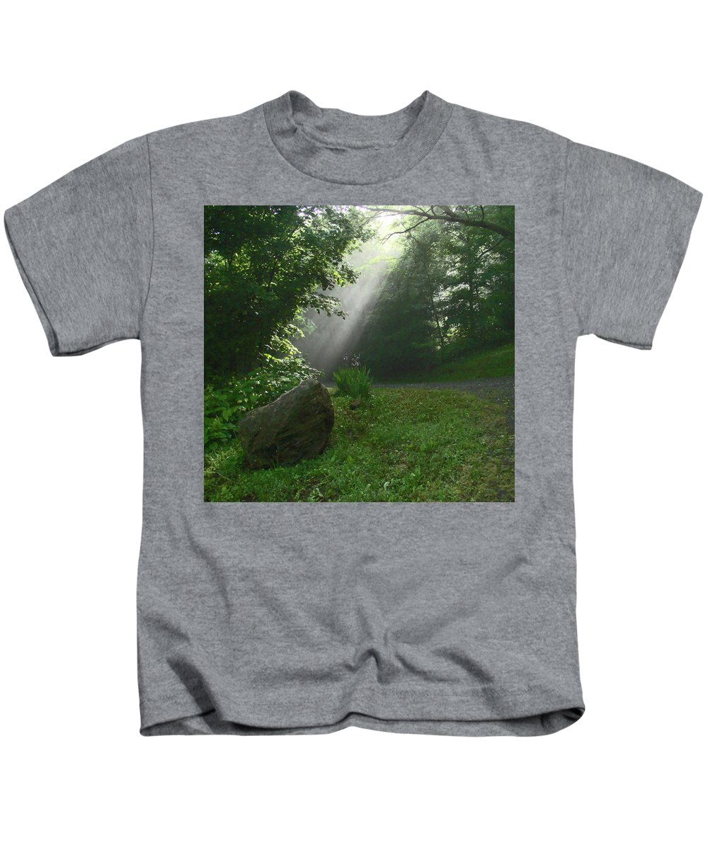 Nature Kids T-Shirt featuring the photograph A Ray Of Hope by Jester Rawls