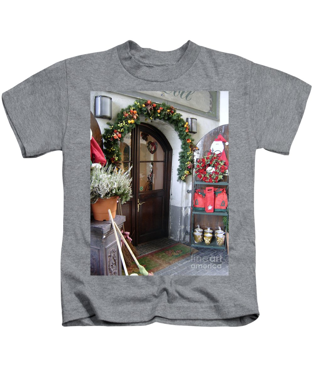 Santa Kids T-Shirt featuring the photograph A Salzburg Christmas by Mary Rogers