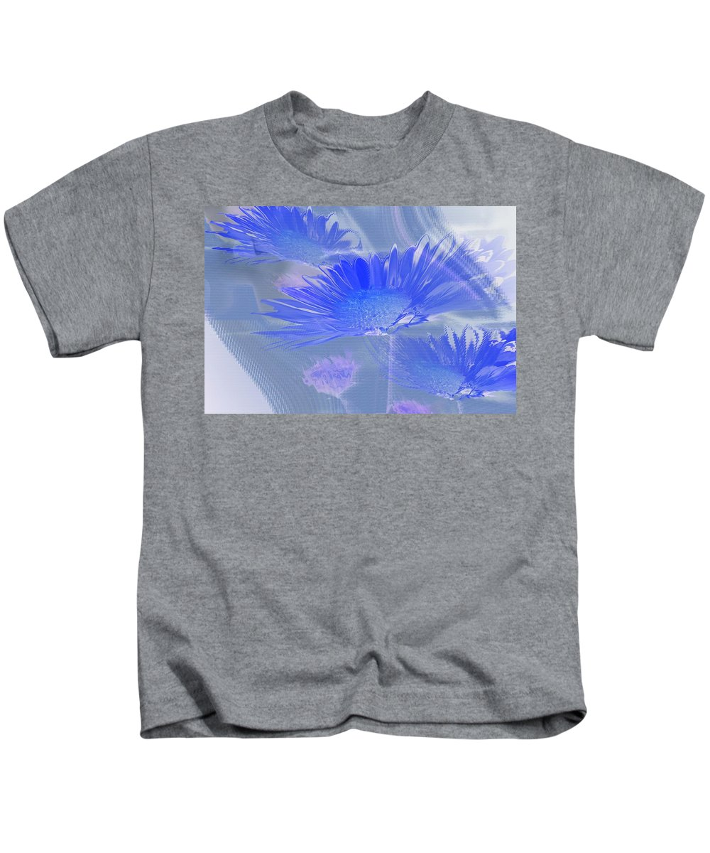 Abstract Kids T-Shirt featuring the photograph A Slanting Blue Wind by Jeff Swan