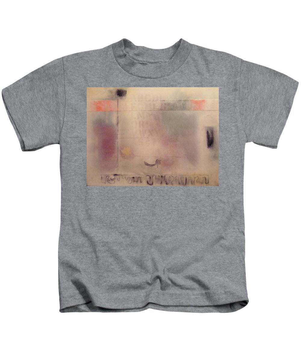 Abstract Kids T-Shirt featuring the painting A Thought Of Stillness by W Todd Durrance