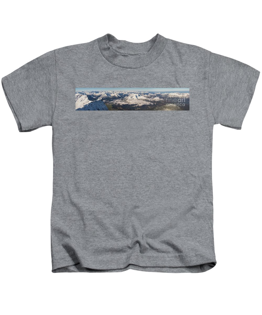 Zugspitze Kids T-Shirt featuring the photograph A View From Zugspitze by Benjamin Reed